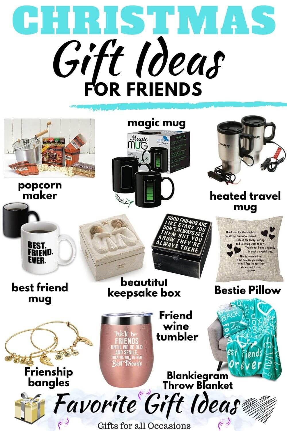 20 Christmas Gift Ideas For Friends 2019 Best Friend Gifts Best Friend Christmas Gifts Christmas Gifts For Friends