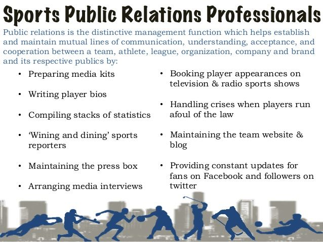 Sports Public Relations Public Relations Public Sport Management