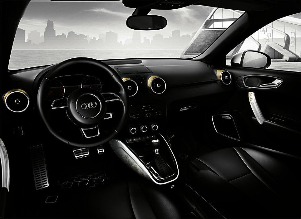The Midas Touch In The A1 Interior Audi A1 Lifestyle Kit Gold