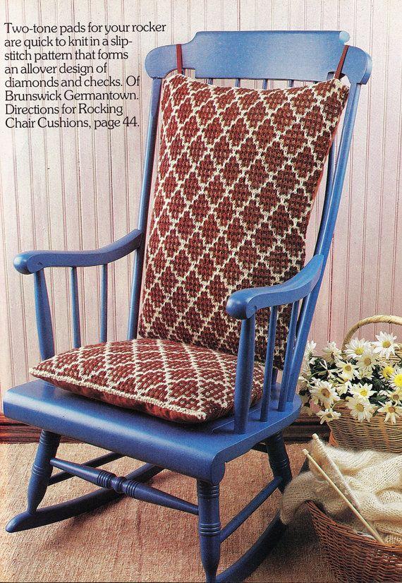 Knitting Patterns Rocking Chair Pad Cushions By GrandmaHadItGoinOn Knitting  Patterns Rocking Chair Pad Cushions Pattern Seat Cushions Padded Pillow