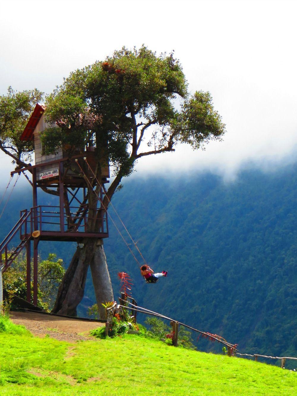 Banos Del.Must See Spot The Casa Del Arbol Banos Ecuador In 2019