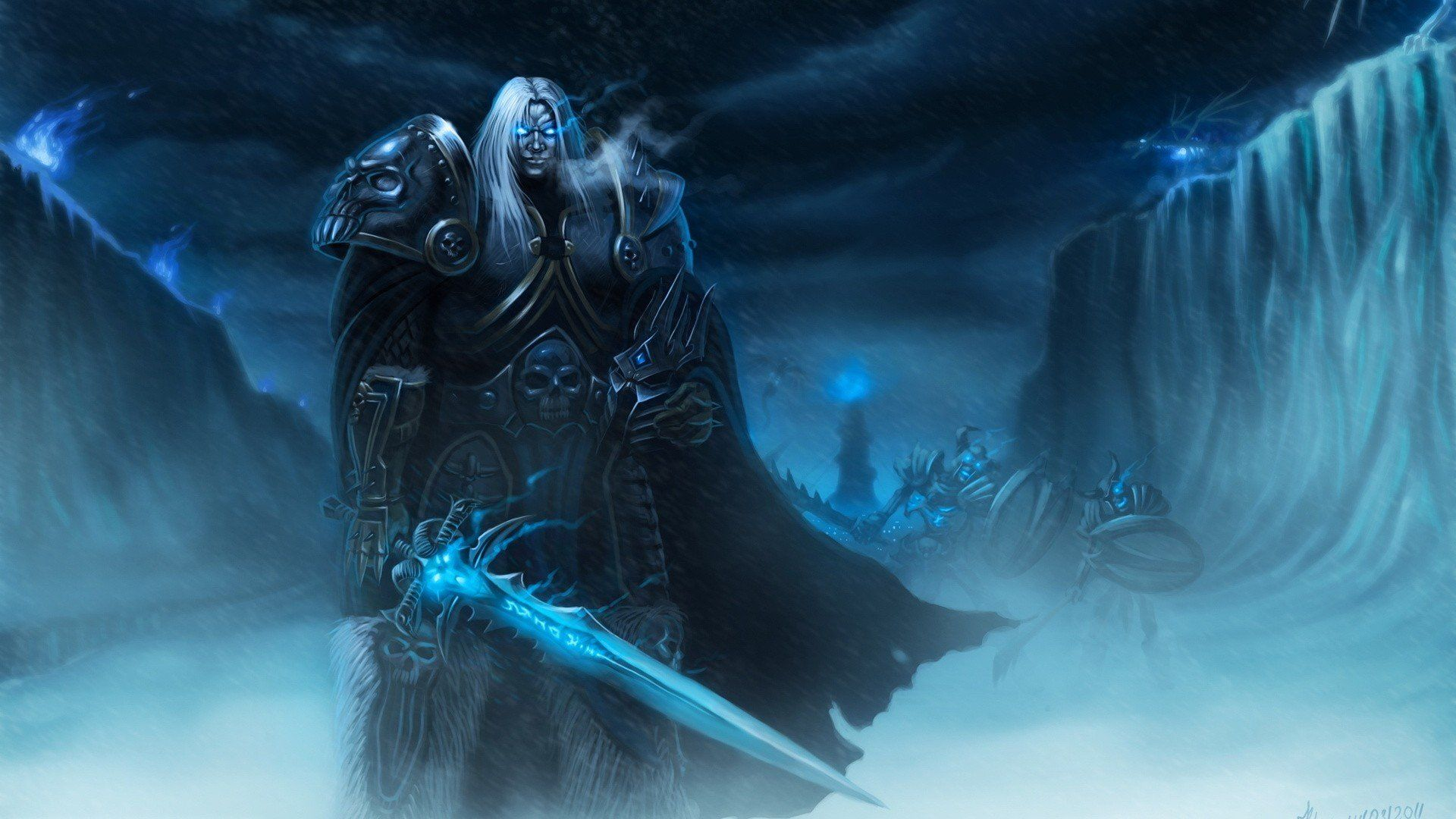 Lich King Wallpaper Artes World Of Warcraft Ilustracao
