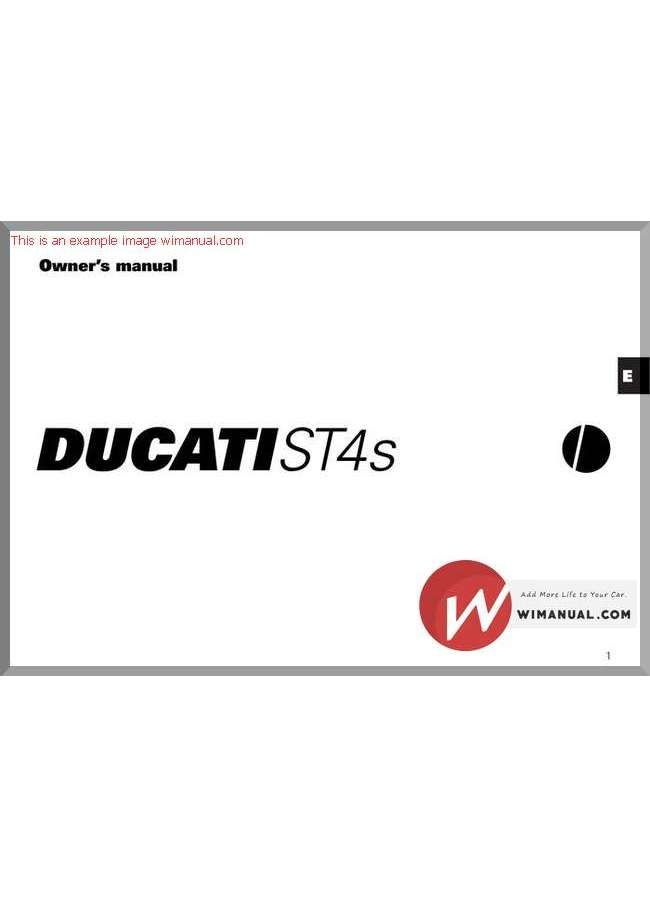 Bestseller: Ducati St4s Service Manual Part Number