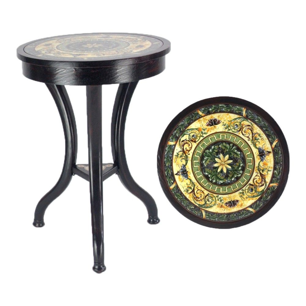 antique wooden round table //price: $538.99 & free shipping