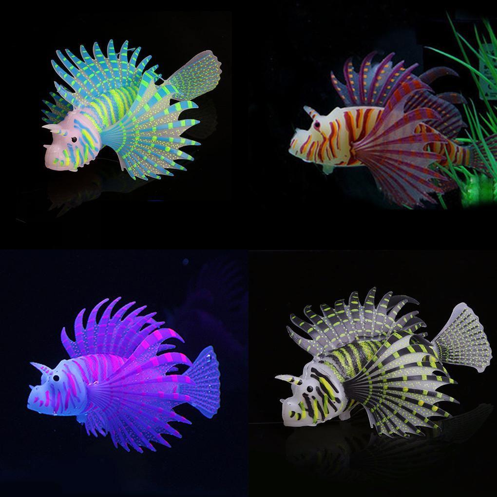 2018 New Landscaping Aquarium Decor Fluorescent Simulation Glow Lion Fish Tropical Fish Tank Ornamental Yeste Tropical Fish Tanks Aquarium Decor Tropical Fish