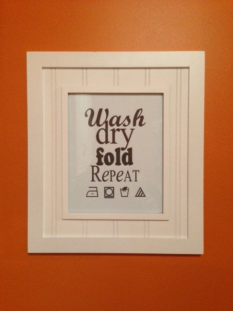 Wash Dry Fold Repeat Laundry Room Sign Art Pdf File On Etsy 2 00