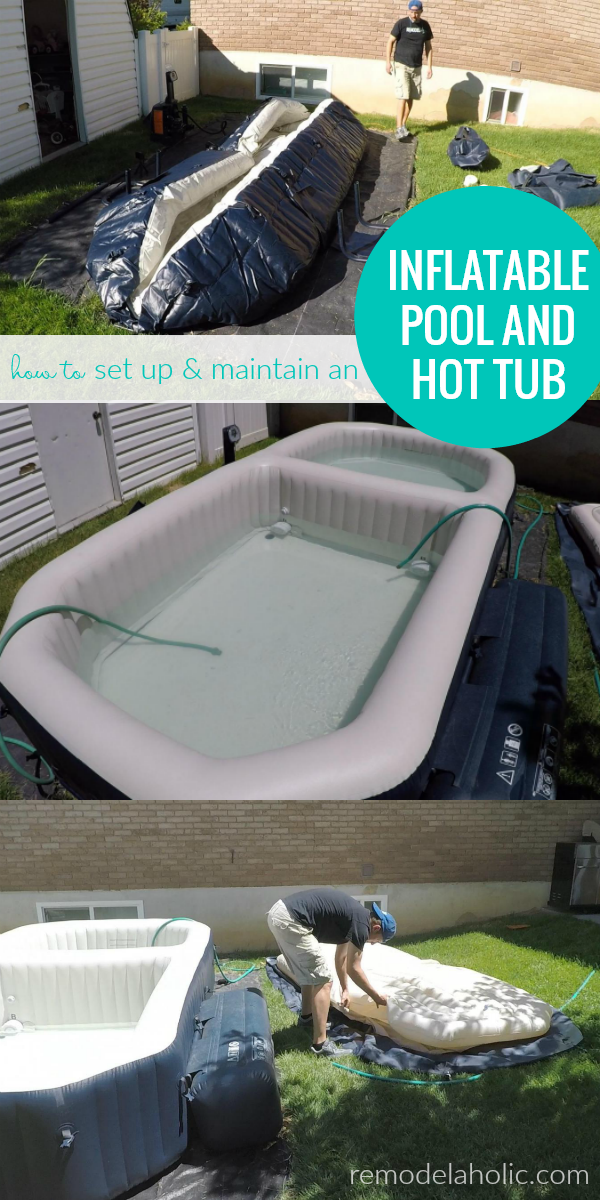 Enjoy A Backyard Swimming Pool In Just A Few Hours See How Fast And Easy This Inflatable Poo Best Inflatable Hot Tub Swimming Pools Backyard Diy Swimming Pool