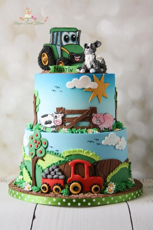 My Small Farm By Lidiya S Sweet Kitchen Cakes Kuchen Traktor