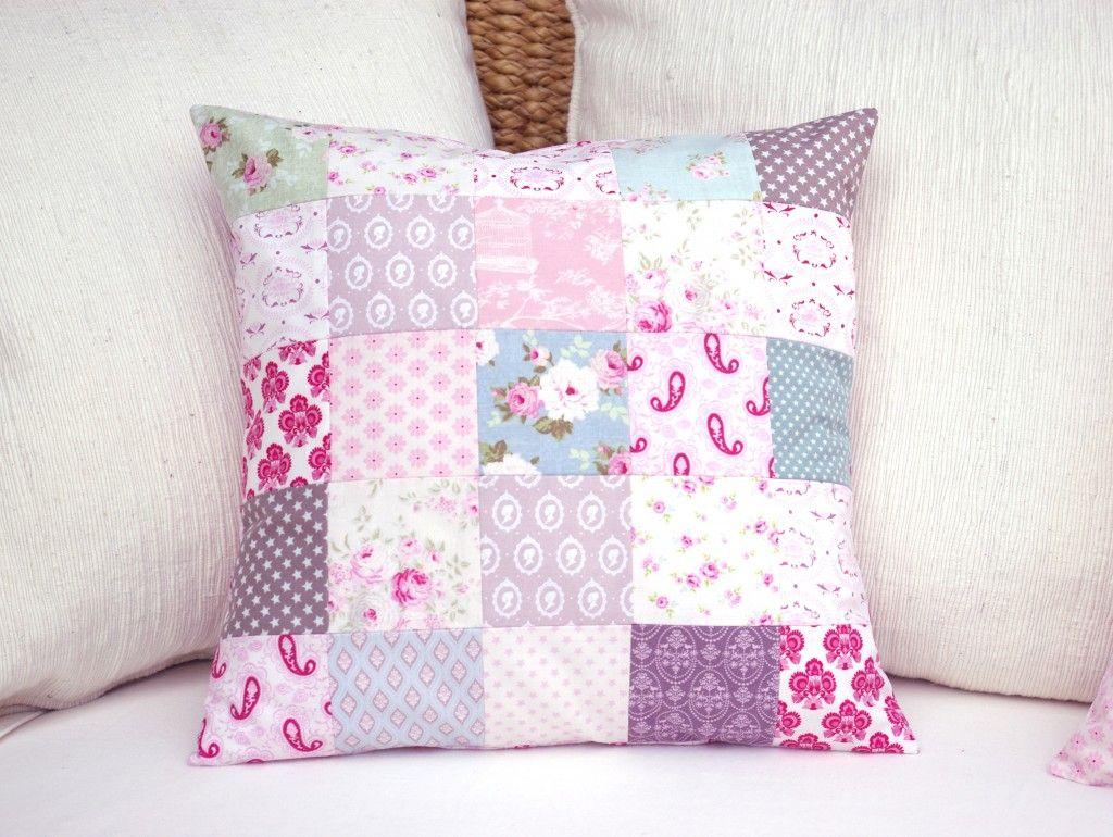 kissenbezug tilda patchwork quadrate n hen kissen kissen n hen und n hen. Black Bedroom Furniture Sets. Home Design Ideas