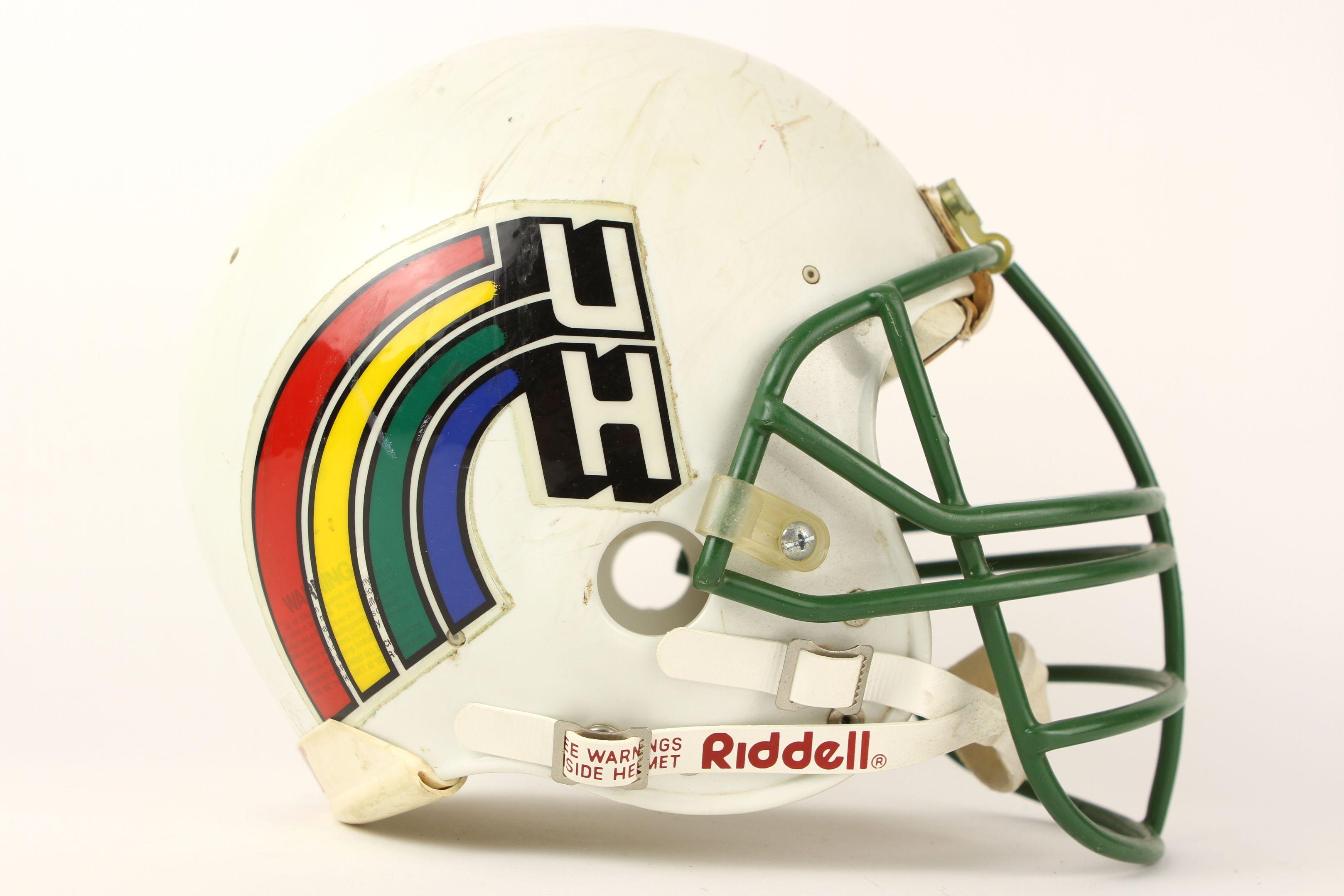Hawaii Rainbow Warriors Football Helmets Football College Football Helmets