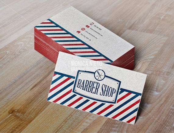 Printable Vintage Barber Shop Business Cards/ Vintage Hair Stylist ...