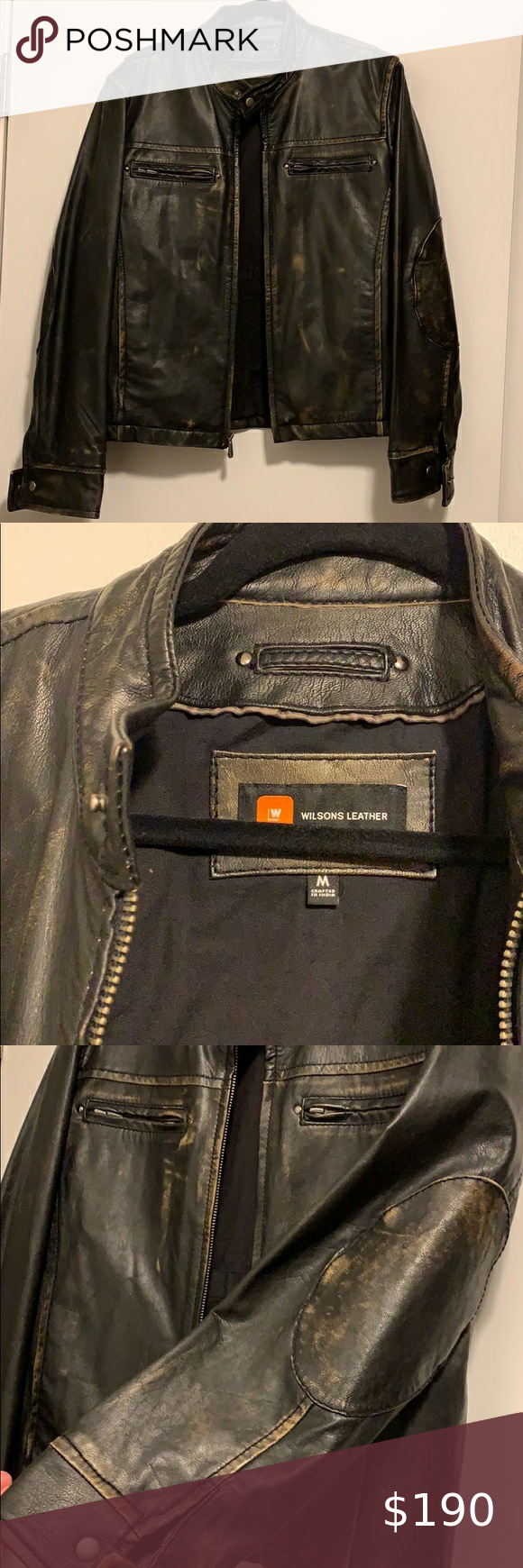 Mens Wilson Leather Jacket In 2020 Wilsons Leather Leather Jacket Wilsons Leather Jacket [ 1740 x 580 Pixel ]