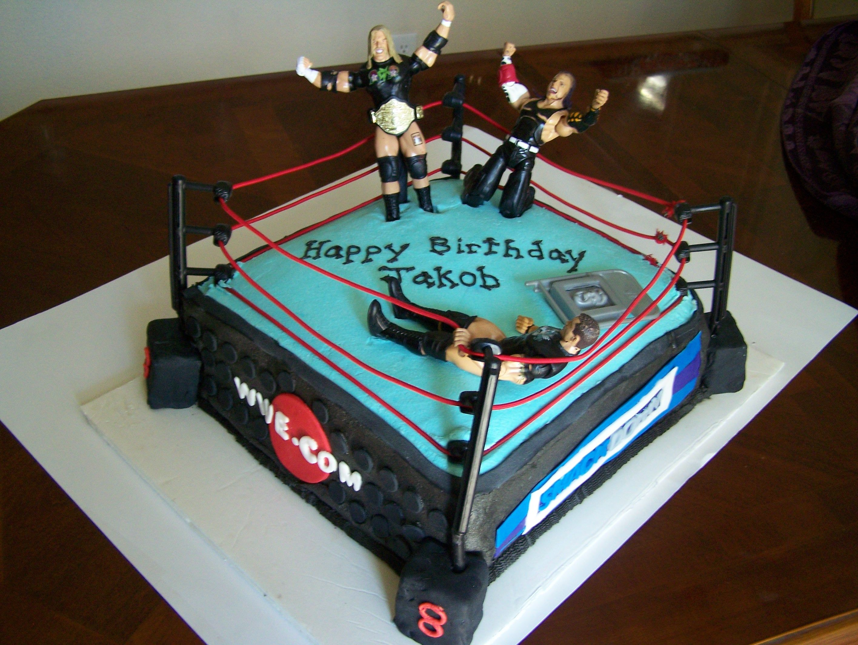 Wwe Wrestling Ring Butter Cream With Fondant Details