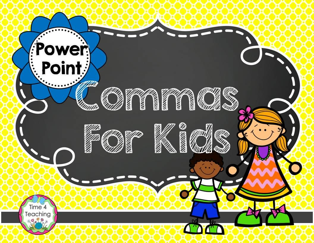 commas for kids powerpoint students teaching ideas and language arts