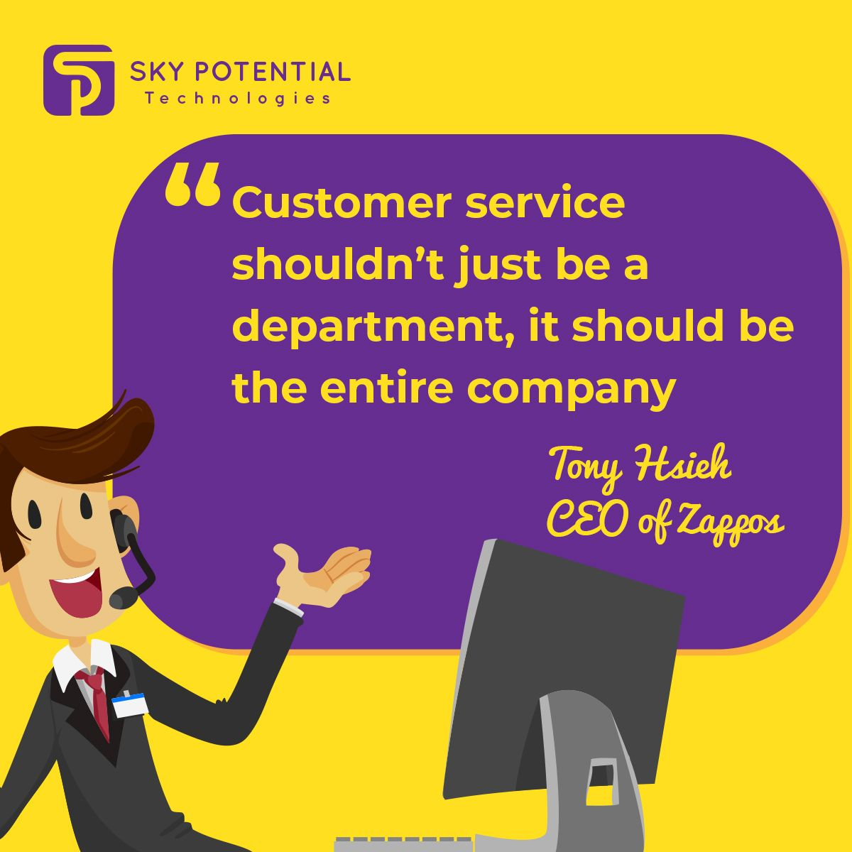 Customer service is everyone's job, not just a job