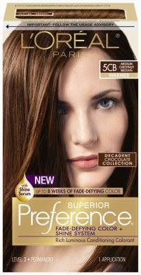 ĺ Oreal 5 3 Warm Brown Tones Medium Chesnut Brown Hair Color