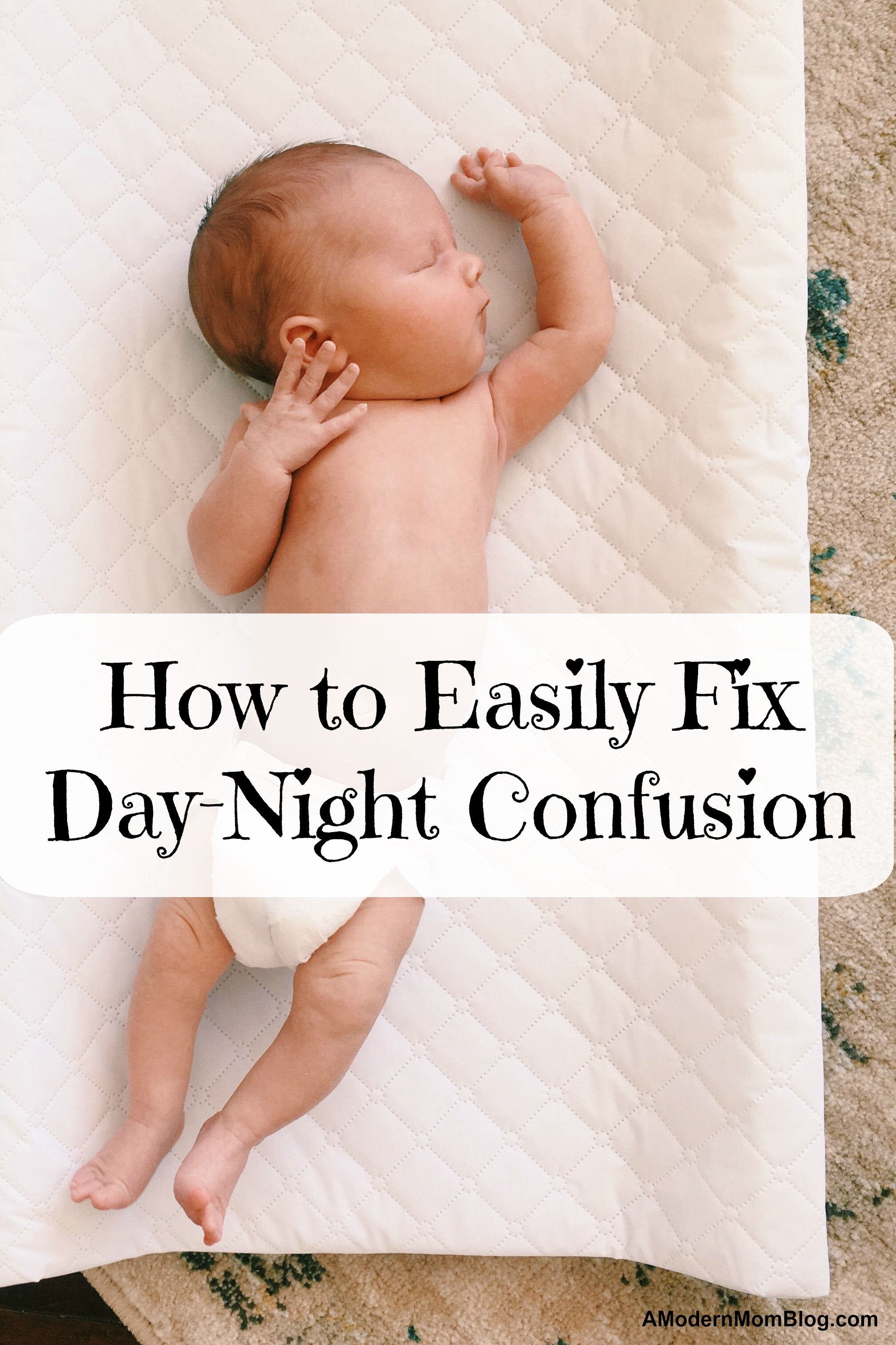 Getting baby to sleep at night instead of day