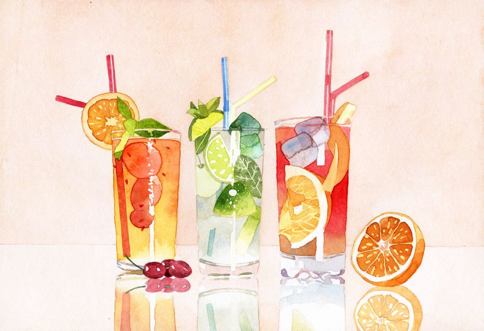 Food Drink Marcel George Illustration Watercolor Food