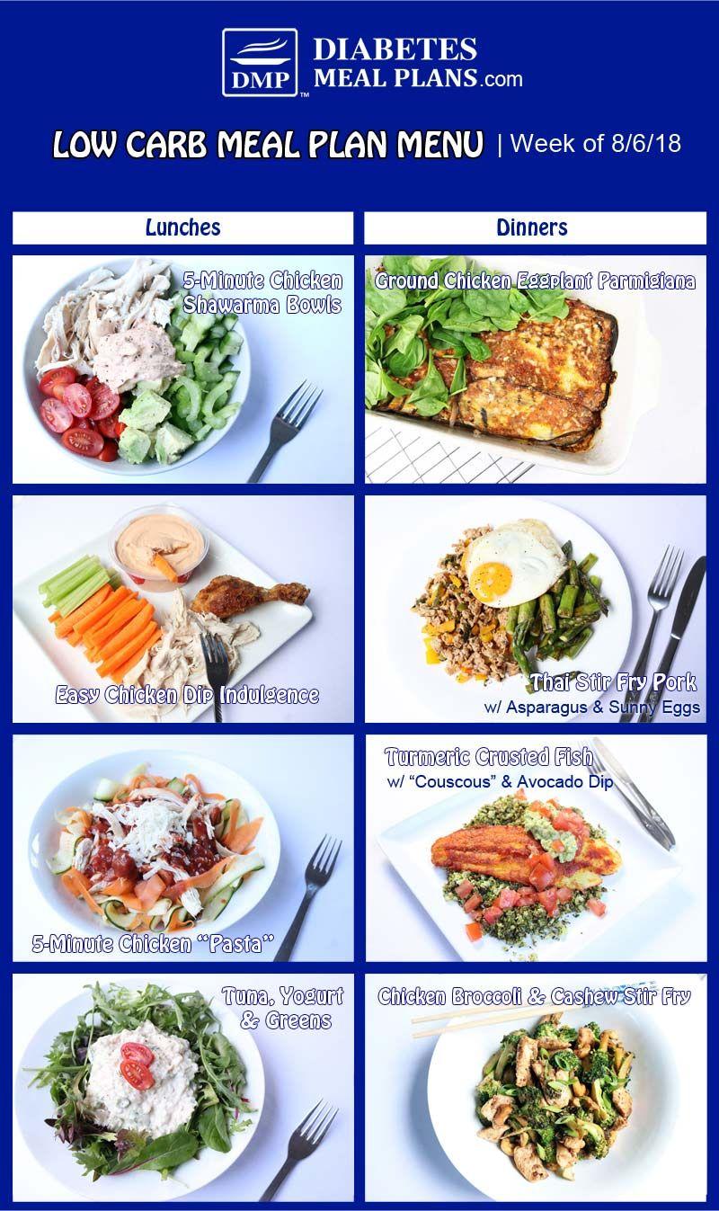 Featured Diabetes Meal Plan: Week of 8-6-18 #diabetesmenu