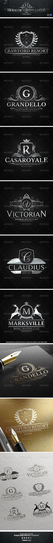 Heraldic Crest Logos   Buy and Download: http://graphicriver.net/item/heraldic-crest-logos-vol3/7684439?WT.ac=category_thumb&WT.z_author=Alex_Zeppelin&ref=ksioks