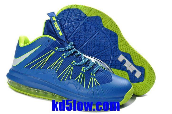 Lebron 10 Low Electric Green University Blue Lebron James Basketball Shoes