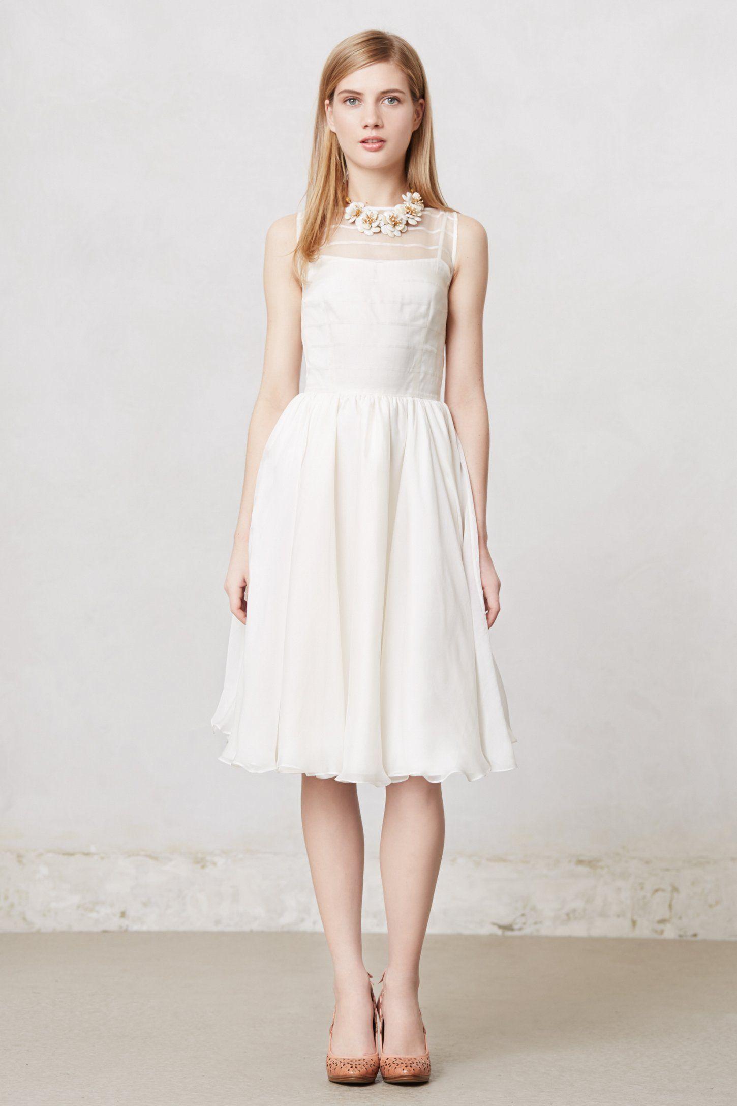Simple silk wedding dresses  Natalie Dress  Style  Pinterest  Anthropologie Tea length