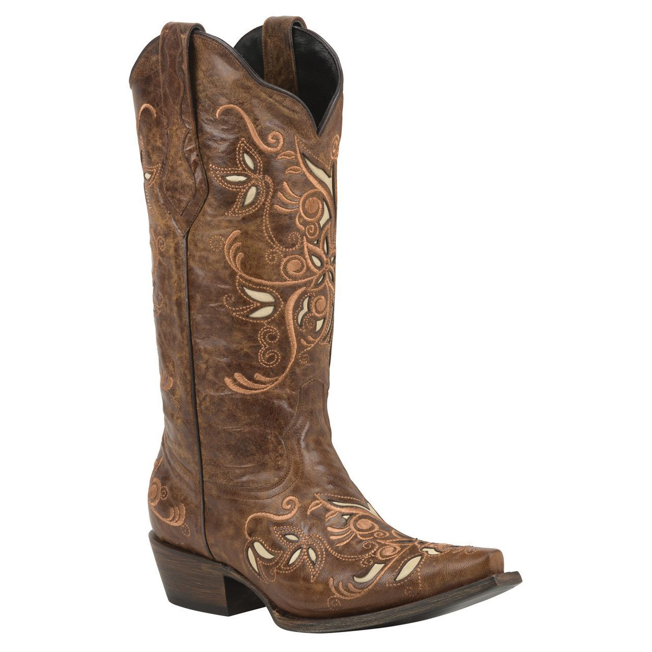 Womens leather cowboy boots