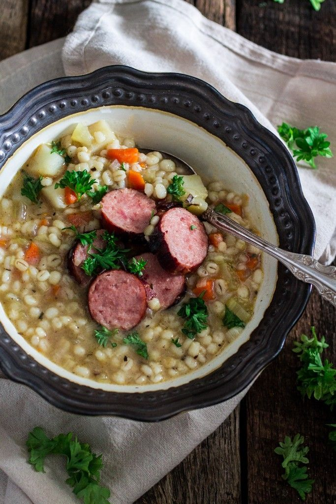 Traditional german sausage and barley soup graupensuppe olivias traditional german sausage and barley soup graupensuppe olivias cuisine forumfinder Choice Image