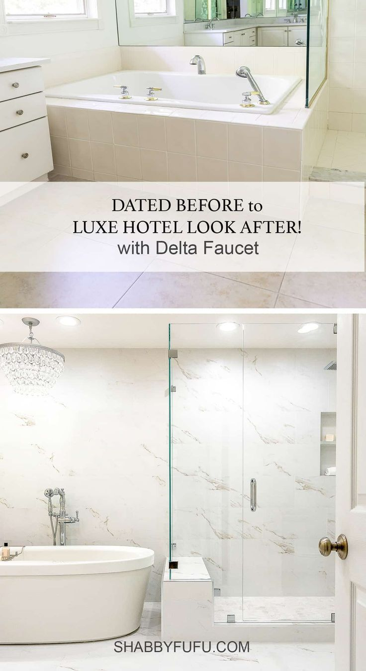 Practical Master Bathroom Ideas: Master Bathroom Makeover With Delta Faucet