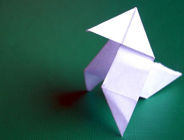 Como Hacer Una Pajarita De Papel Joyeria De Origami Animales De Origami Como Hacer Pajaritas