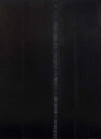 pierre soulages - oil on canvas - peinture 29 avril 1990 (1990)