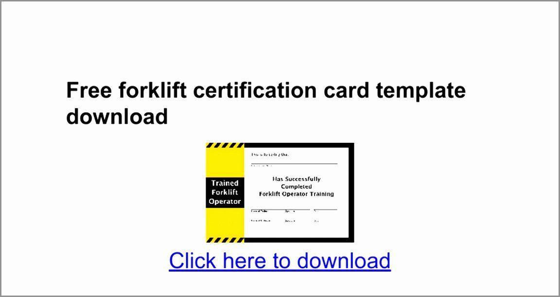 Wallet Card Template Excel Elegant 7 Forklift Certification Card Template Taiyy Card Templates Free Card Template Card Templates Printable