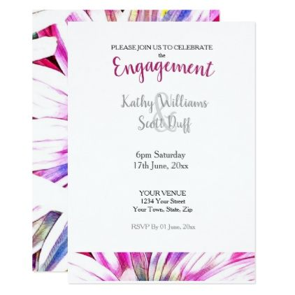 Floral Engagement Invitation  Invitations Personalize