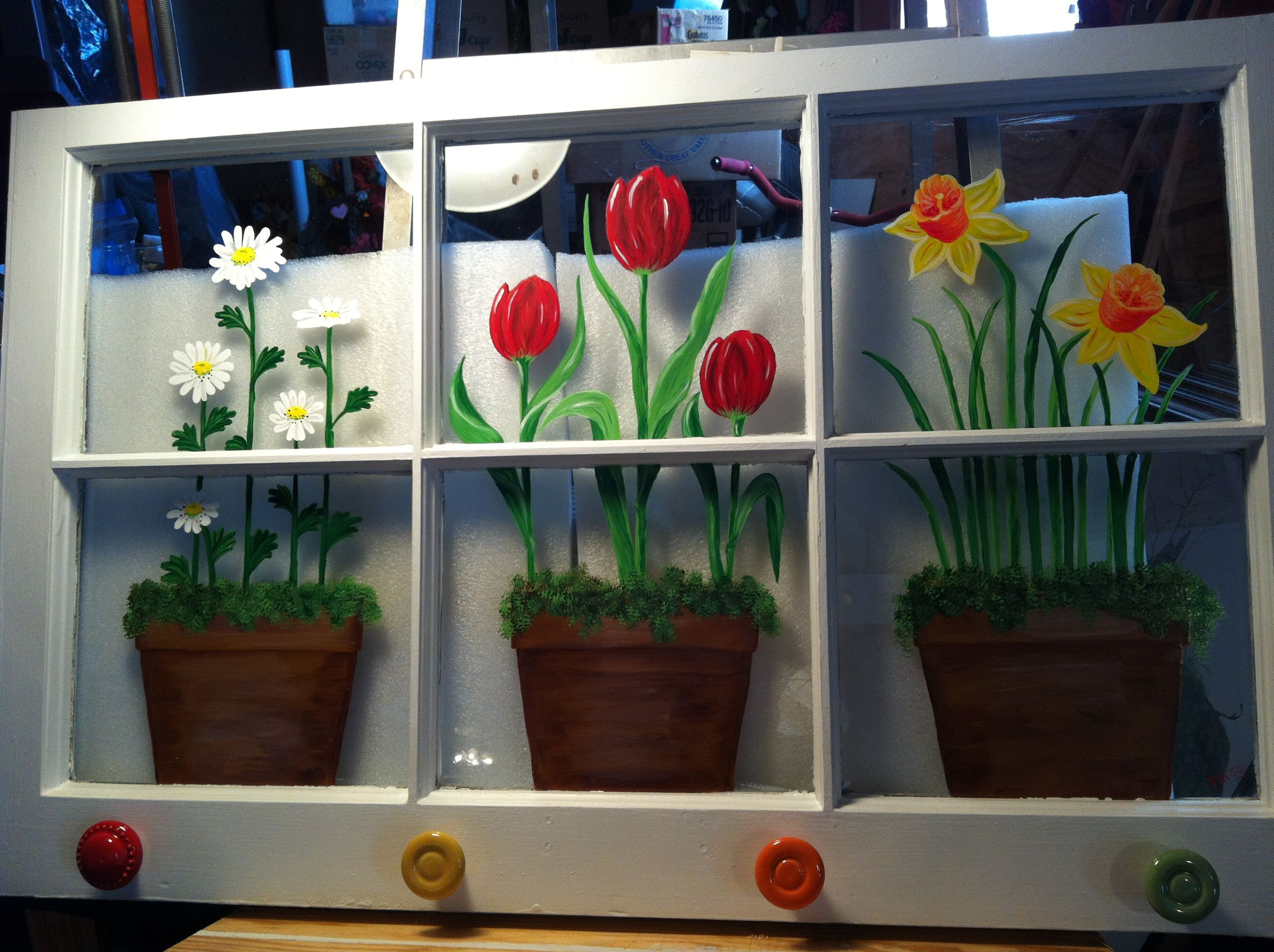 Painted Spring Window