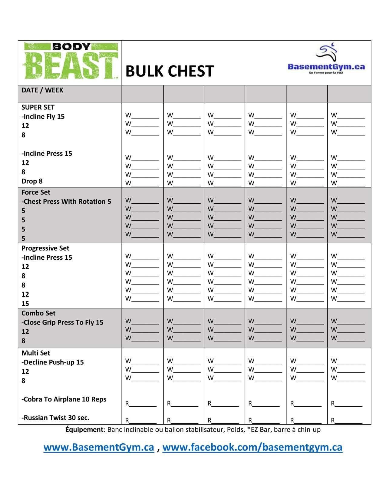 Body Beast Bulk Chest Worksheet