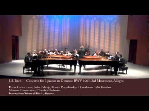 Carles & Sofia piano duo - Concerto for 3 pianos in D minor, BWV 1063: 3rd Movement, Allegro