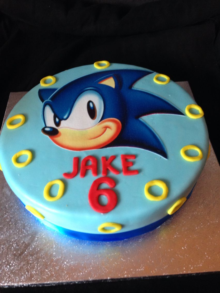 Sonic The Hedgehog Cake With Images Sonic Birthday Cake Sonic