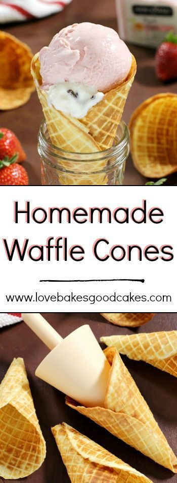 Homemade Waffle Cones are so easy to make at home - let me show you how! AD