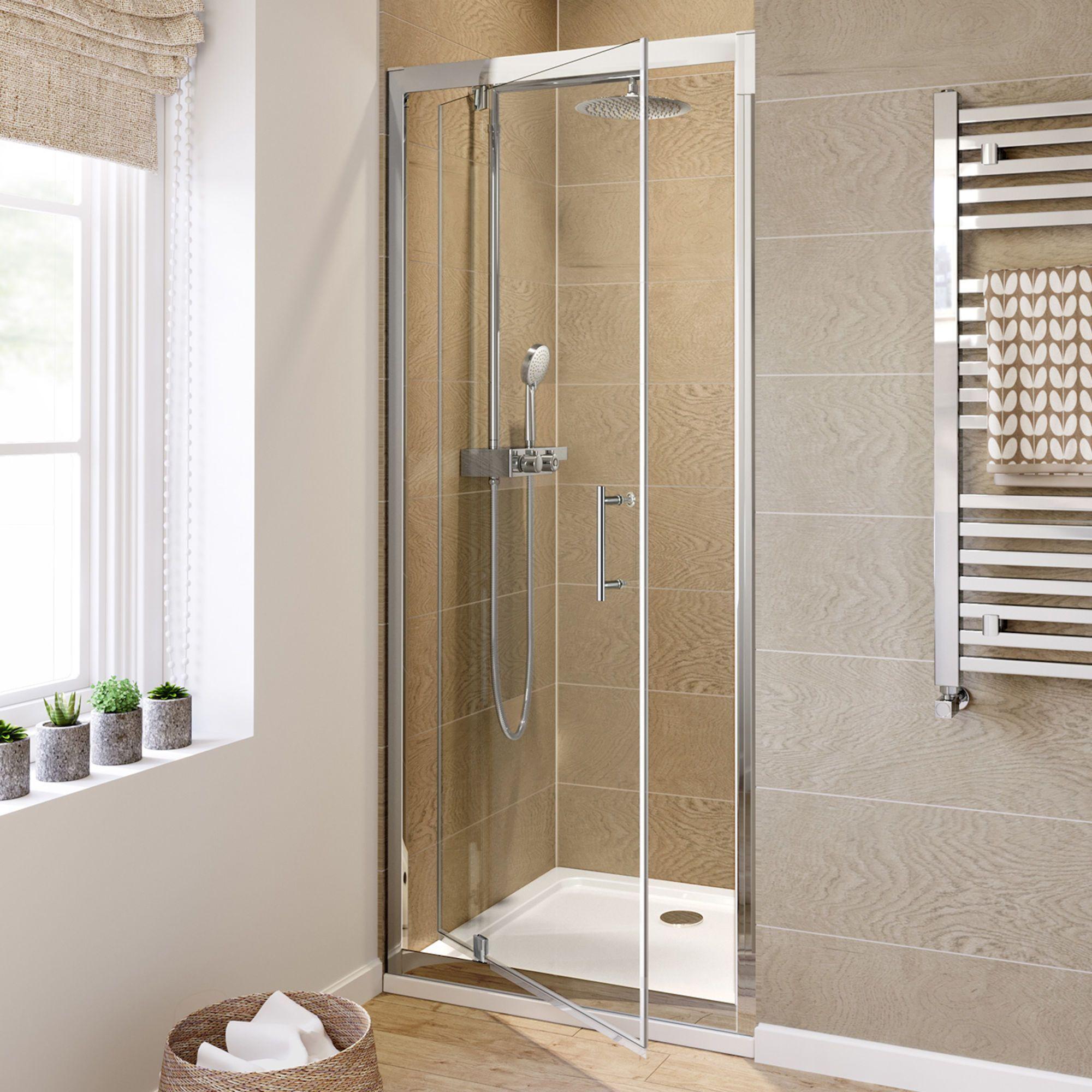 760mm Shower Door 6mm Thick Glass Pivot Shower Door Soak Com Luxuryshoweraccessories Shower Doors Luxury Shower Shower Enclosure