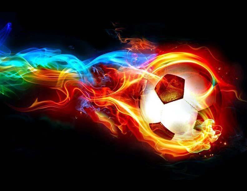 Flaming Soccer Ball Football Wallpaper Soccer Ball Sports Wallpapers