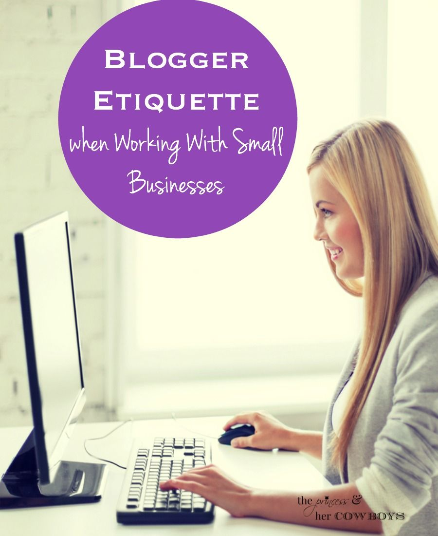 Blogger etiquette when working with small businesses l the