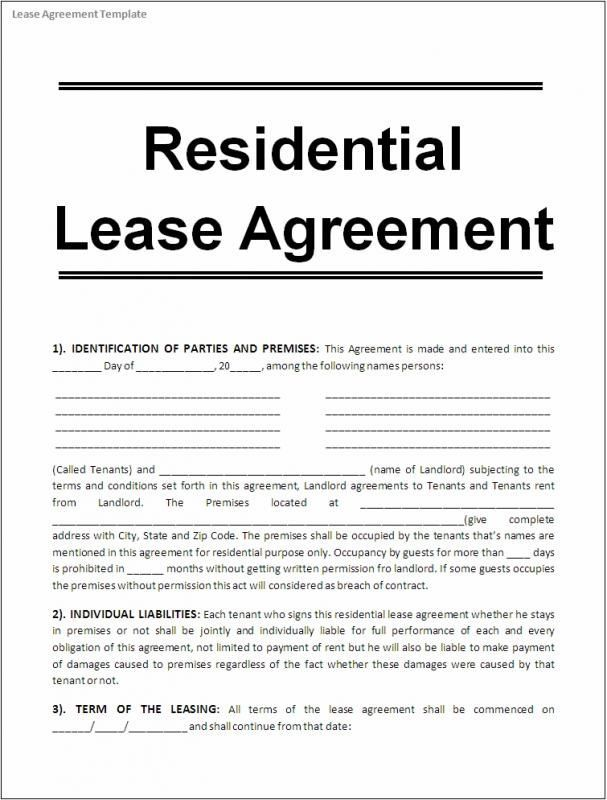 Printable Lease Agreement Https 75maingroup Com Rent Agreement Example