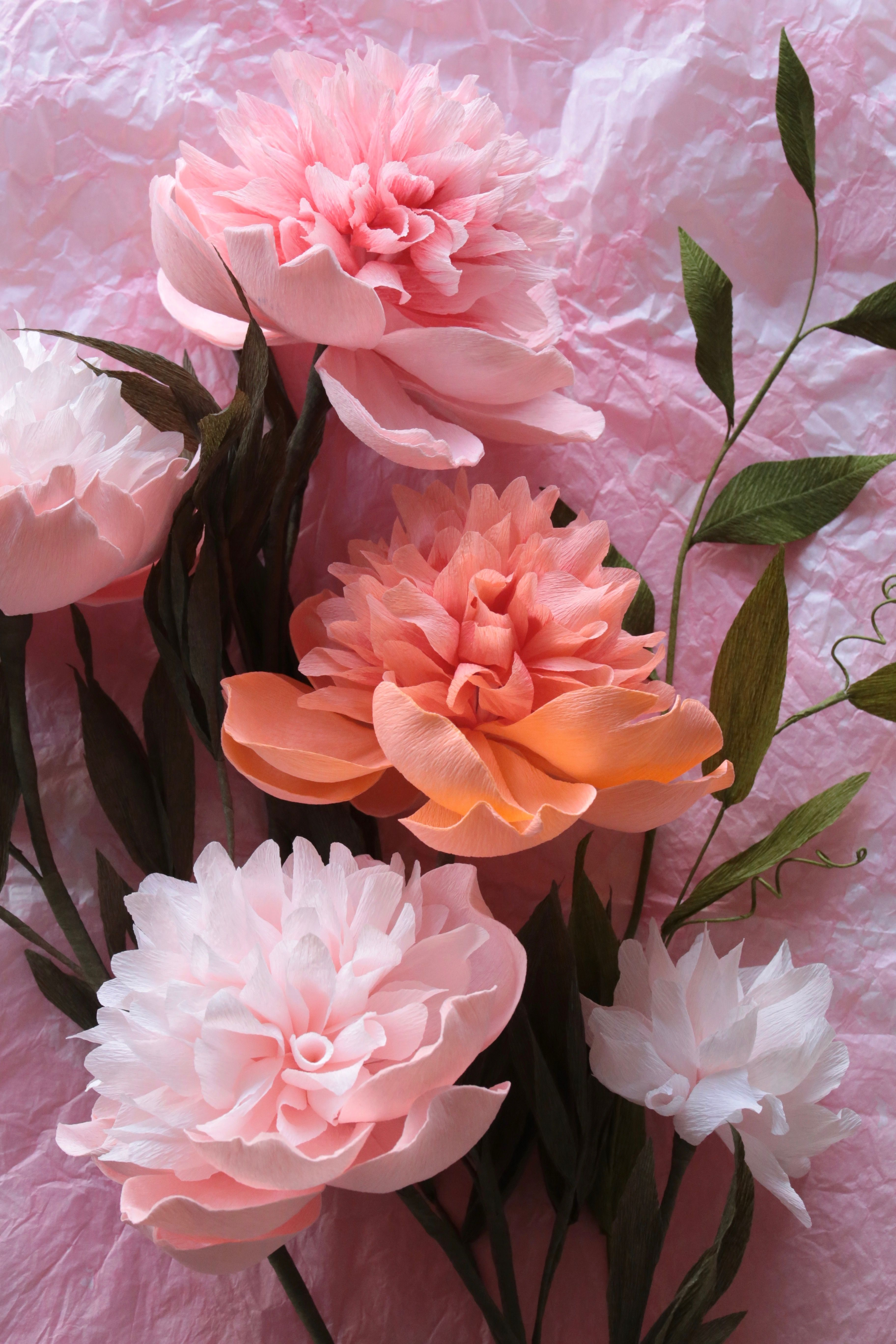 Crepe Paper Peony By Papetal Paper Flowers Pinterest Paper