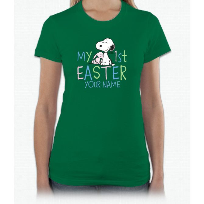 Snoopy - My 1st Easter Infant Short Sleeve Women T-Shirt