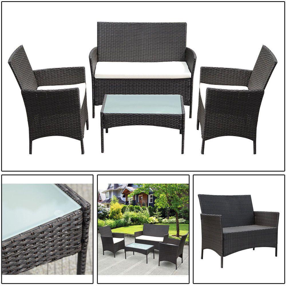 pc outdoor garden furniture patio rattan wicker chair sofa table