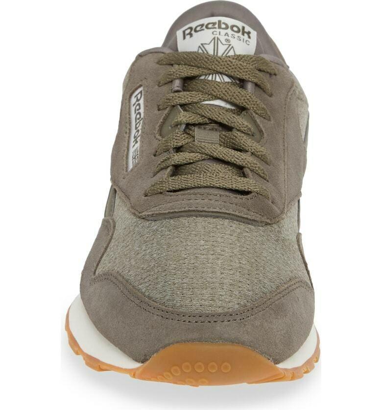 ae119af3 Reebok Men's Classic Leather Nylon M Sneaker New TERRAIN GREY ...