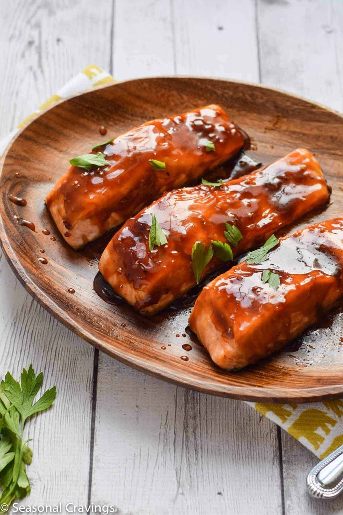 Baked Teriyaki Salmon #teriyakisalmon This Easy Teriyaki Salmon is a must for your weeknight rotation. The glaze is sticky sweet and a perfect topper to this mild roasted salmon. #glutenfree #salmon #dinner #seasonalcravings #healthy #teriyakisalmon Baked Teriyaki Salmon #teriyakisalmon This Easy Teriyaki Salmon is a must for your weeknight rotation. The glaze is sticky sweet and a perfect topper to this mild roasted salmon. #glutenfree #salmon #dinner #seasonalcravings #healthy #teriyakisalmon #teriyakisalmon