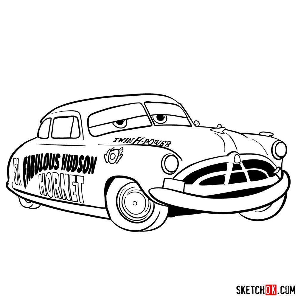How To Draw Doc Hudson Cars In 2021 Drawings Joker Art Drawing Hudson Car