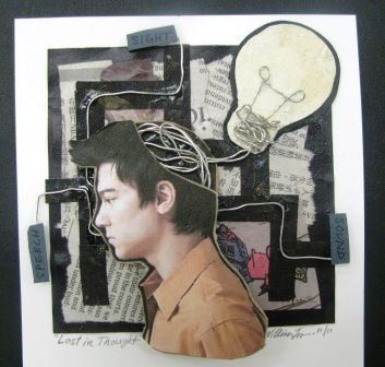 Artisun 2 D Collage Self Portraits In 2019 High School