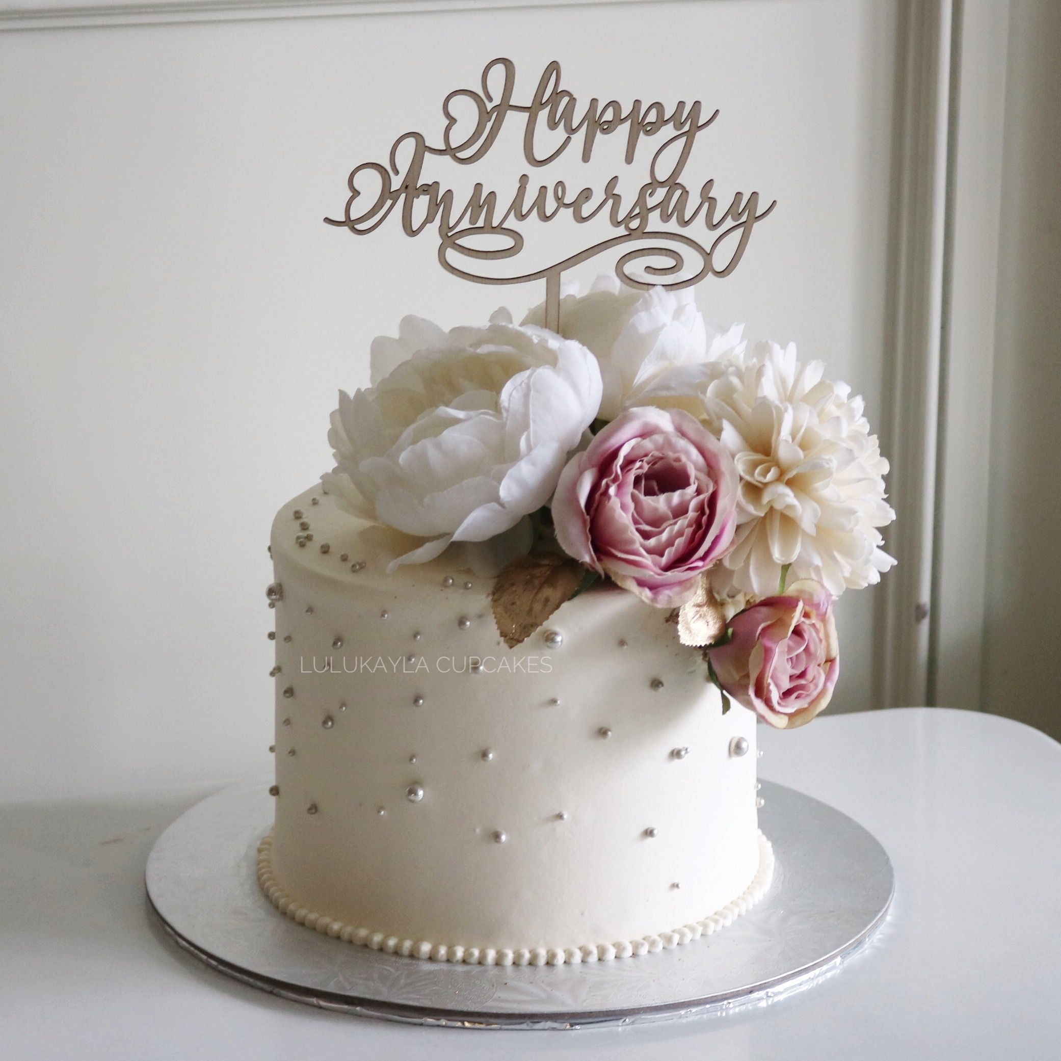 Flower Cake Buttercream Birthday Cake Happy Anniversary Cakes